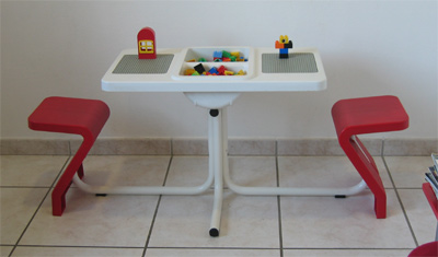 table-lego 2 places enfants consultation ophtalmo